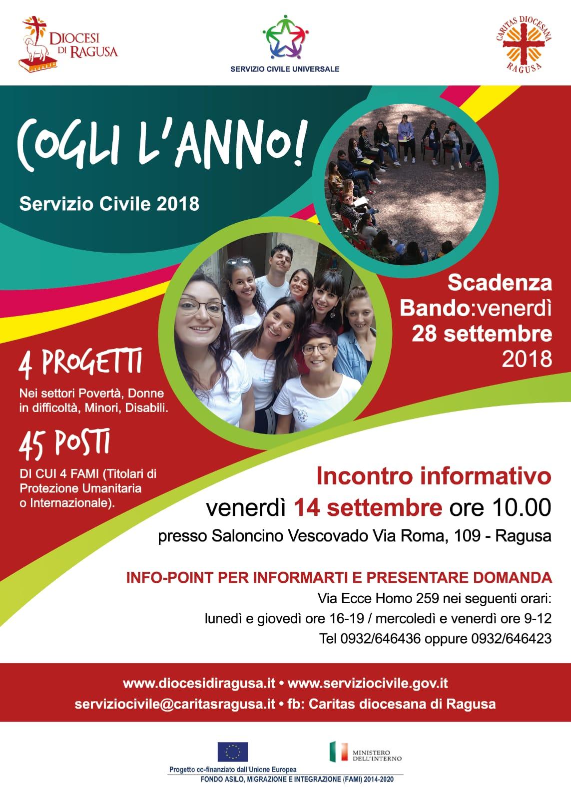 Giada Sciortino Calendario 2020.Servizio Civile Calendario Delle Selezioni Progetti Caritas
