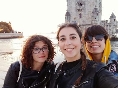 Anna Murer, Fabrizia Macca e Viviana Modica a Lisbona